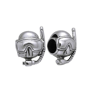 Memorable experience under the sea ~ Sterling Silver Dive Mask Bead TBD137 peterstone.