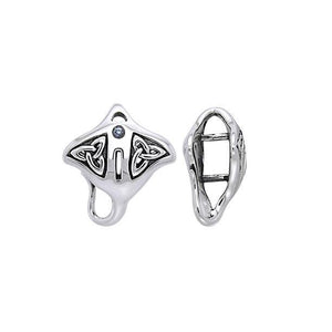 Manta Ray Sterling Silver Bead TBD161 peterstone.