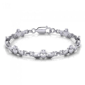 Irish Claddagh Silver Bracelet TBG254 peterstone.