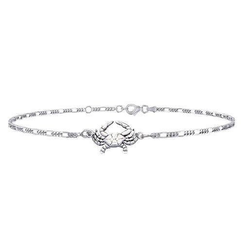 Silver Crab Anklet TBG371 peterstone.
