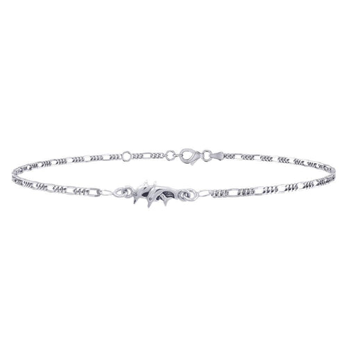 Twin Dolphins Silver Anklet TBG374