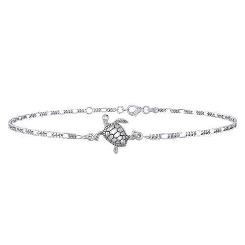 Silver Turtle Anklet TBG380 peterstone.