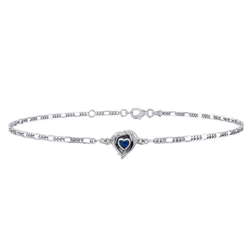 Dolphin Love Silver Anklet TBG387