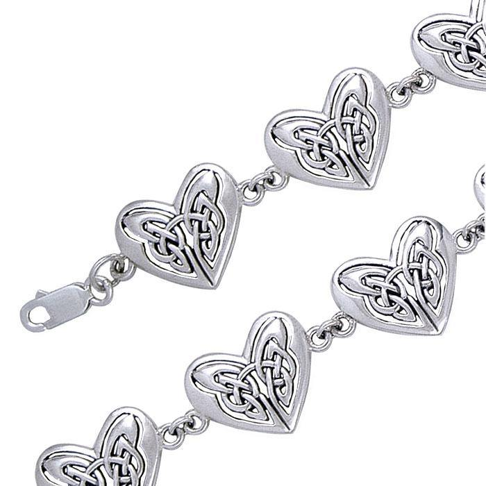 Eternal Celtic Hearts Silver Bracelet TBG774
