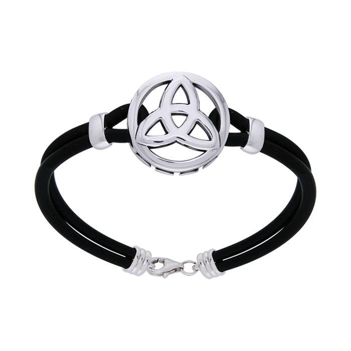 Celtic Trinity Knot Leather Cord Bracelet TBL193