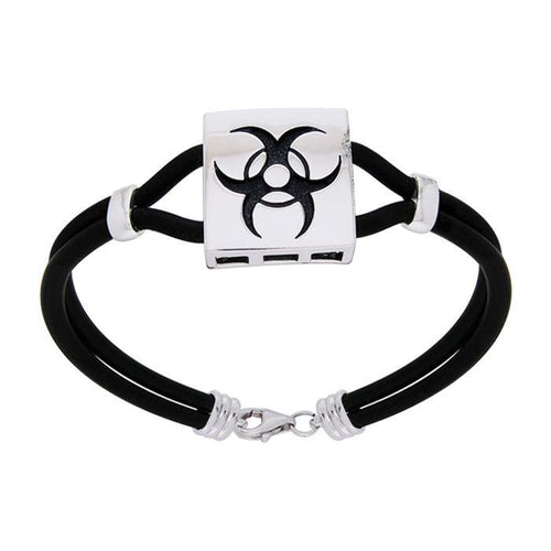 Triple Moon Leather Cord  Bracelet TBL194