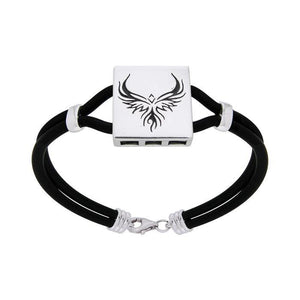 Fiery Phoenix Leather Cord Bracelet TBL195 peterstone.