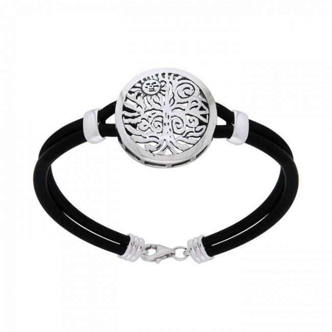 Natureโ€™s Finest ~ Tree of Life Leather Cord Bracelet TBL197 peterstone.