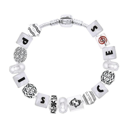 Pisces Astrology Bead Bracelet TBL327 peterstone.