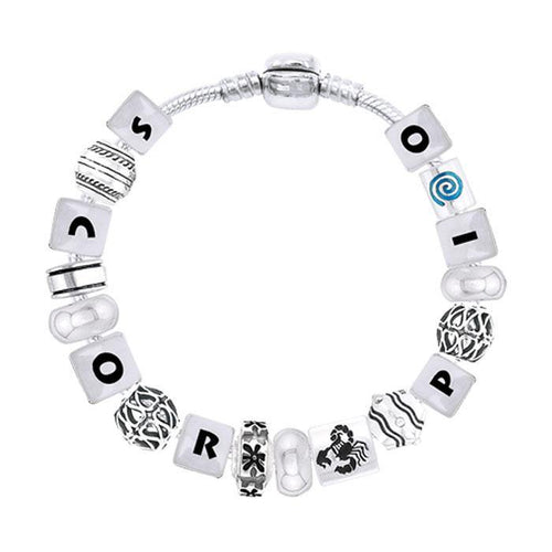 Scorpio Astrology Bead Bracelet TBL328 peterstone.