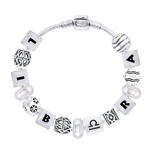 Libra Astrology Bead Bracelet TBL335 peterstone.