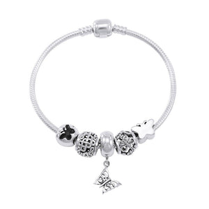Butterfly's beautiful triumph ~ Sterling Silver Jewelry Bead Bracelet TBL356 peterstone.