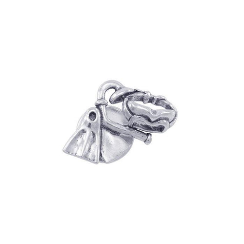 Dive Gear Sterling Silver Brooch TBR365