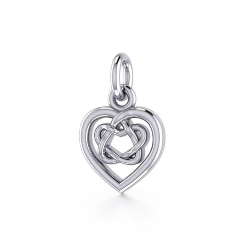 Celtic Knotwork Heart Silver Charm TC1064 peterstone.