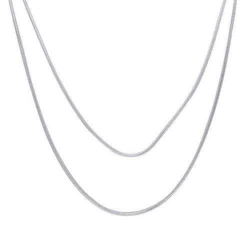 Double Snake Sterling Silver Chain TCH029 peterstone.