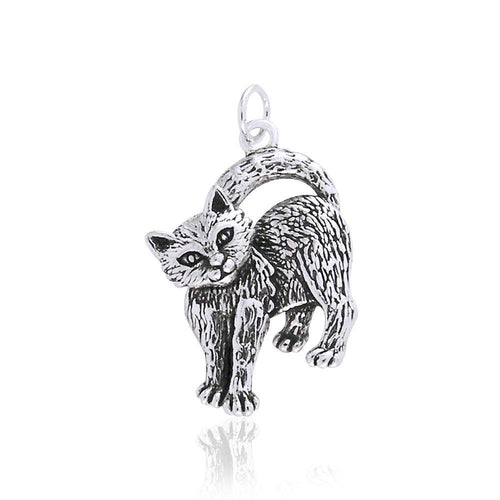 Silver Kitty Charm TCM086 peterstone.