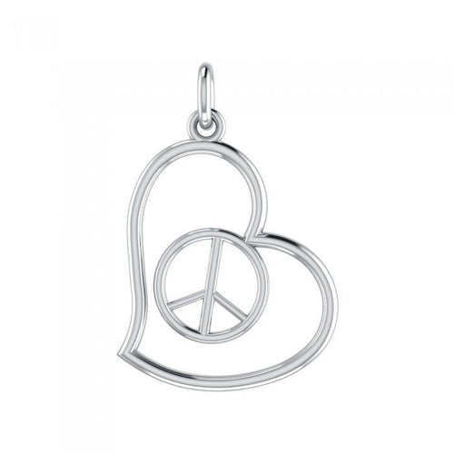 Love Peace Silver Charm TCM397 peterstone.
