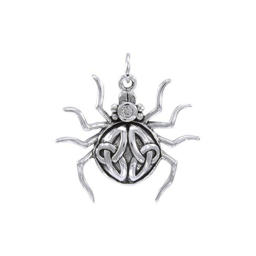 Spider with Triquetra Silver Charm TCM544