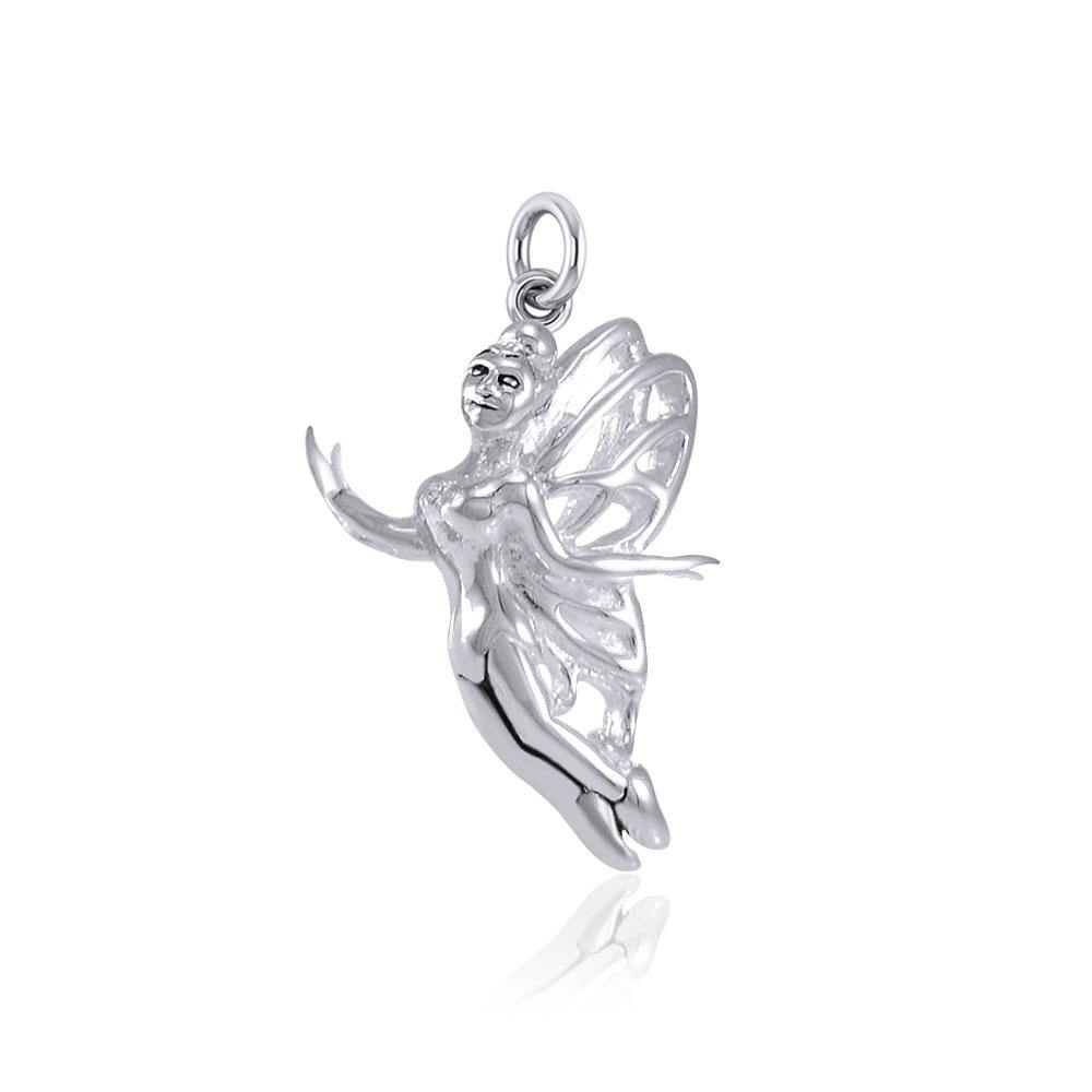 Enchanted Flying Fairy Silver Charm TCM658 peterstone.