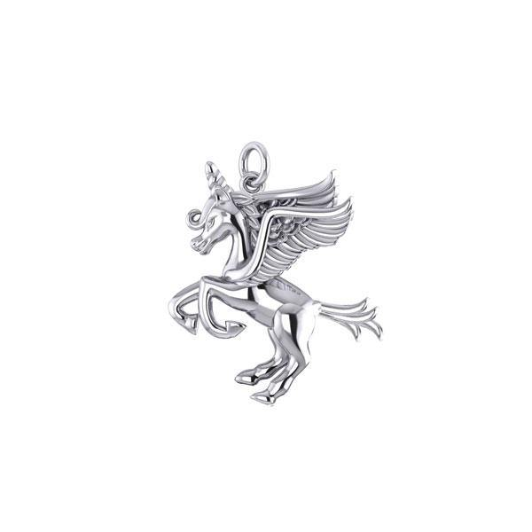 Enchanted Sterling Silver Mythical Unicorn Charm TCM660