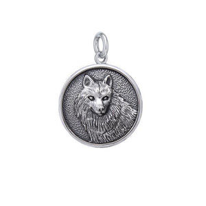 Wonderful Wolf Sterling Silver Charm TCM675 peterstone.