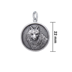 Wonderful Wolf Sterling Silver Charm TCM675