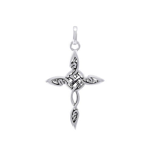 Fantastic Celtic Cross Silver Charm TCM678 peterstone.