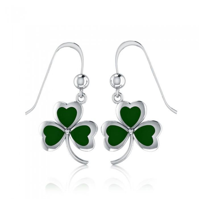 Celtic Shamrock Silver Earrings TE1119