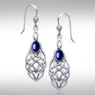 Celtic Knotwork Silver Earrings TE113
