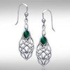 Celtic Knotwork Silver Earrings TE113 peterstone.