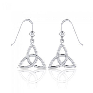 Endless Connection in Celtic Triquetra ~ Sterling Silver Jewelry Dangling Earrings TE128 peterstone.