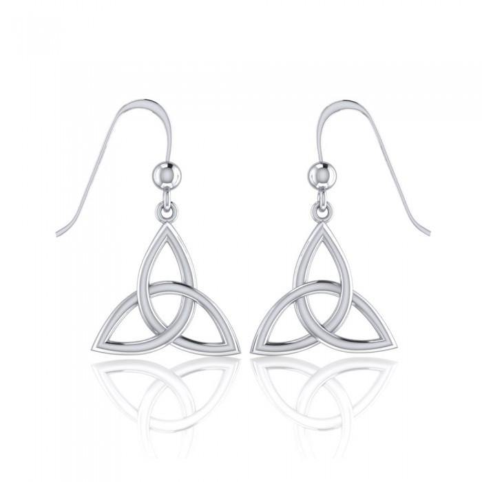 Celtic Knotwork Silver Triquetra Earrings TE128