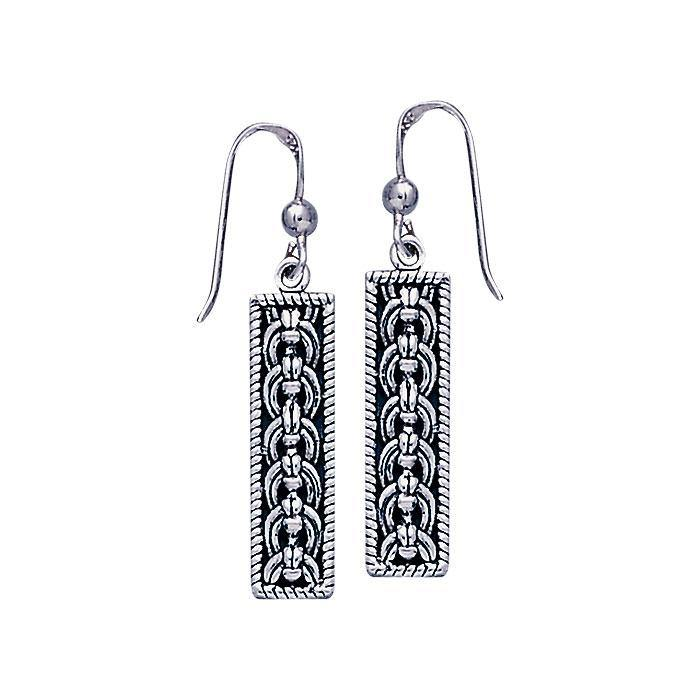 Celtic Knotwork Silver Earrings TE2136