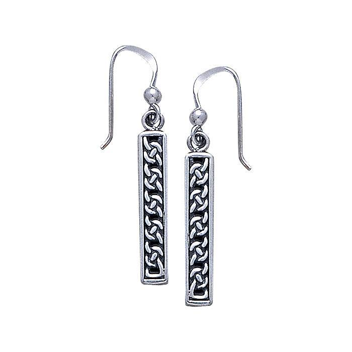 Celtic Knotwork Silver Earrings TE2290
