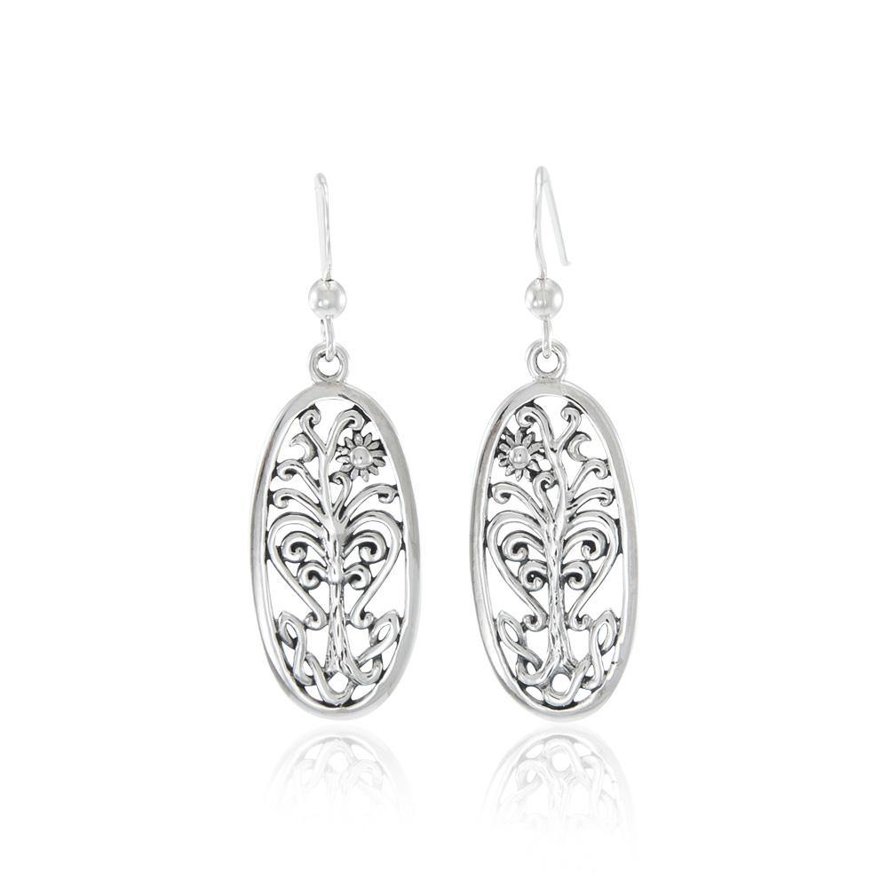 Tree of Life Silver Earrings TE2795