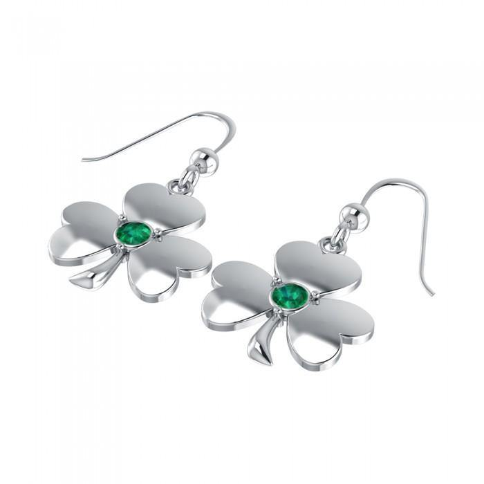 Celtic Shamrock Silver Earrings TE2811