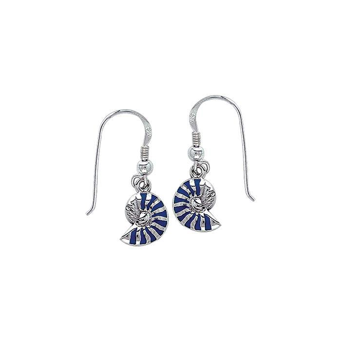 Nautilus Silver Earrings TE2847 peterstone.