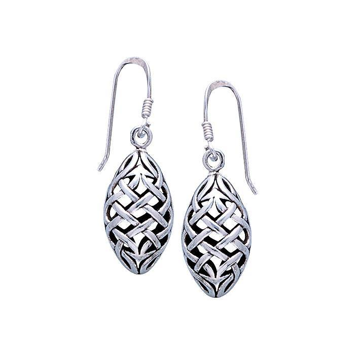 Celtic Knotwork Silver Earrings TE684 peterstone.