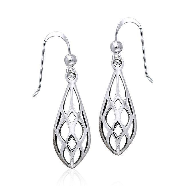 Art Deco Silver Earrings TE946