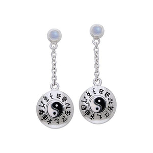 Chinese Astrology Yin Yang Earrings TER074 peterstone.