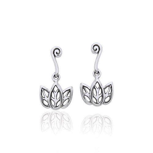 Citta Three leaf Silver Post Earrings TER1003 peterstone.