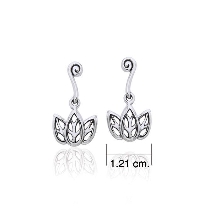 Citta Three leaf Silver Post Earrings TER1003