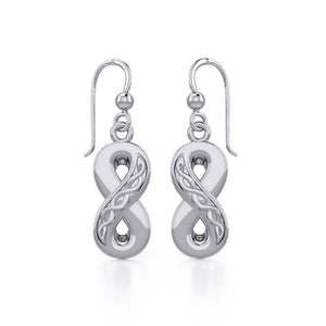 Celtic Infinity Silver Earrings TER1108