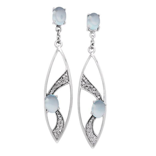 Fantastic Contemporary Silver Earrings with Gemstones TER1201 peterstone.
