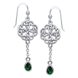 Celtic Knotwork Silver Earrings TER122 peterstone.