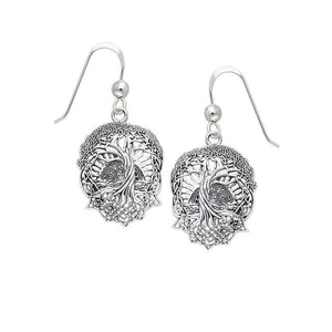 Get the look of extraordinary ~ Sterling Silver Jewelry Tree of Life Earrings TER1367 peterstone.