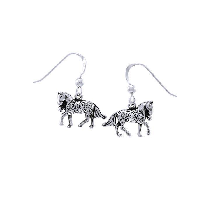 Brigid Ashwood Celtic Horse Earrings TER1399