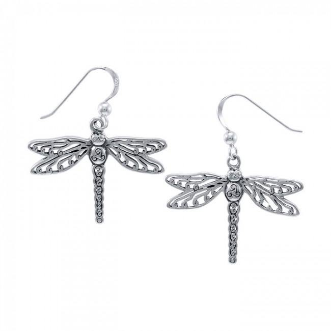 Cari Buziak Celtic Dragonfly Earrings Ter1447 Peter Stone Jewelry