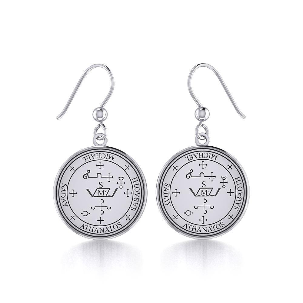 Archangel Michael Sigil Earrings TER1544 peterstone.