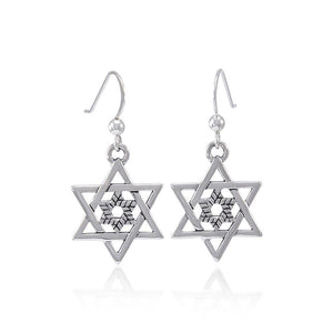 Double Star of David Earrings TER1558 peterstone.